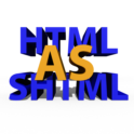 How to parse HTML as SHTML