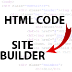 Adding HTML code to Site Builder