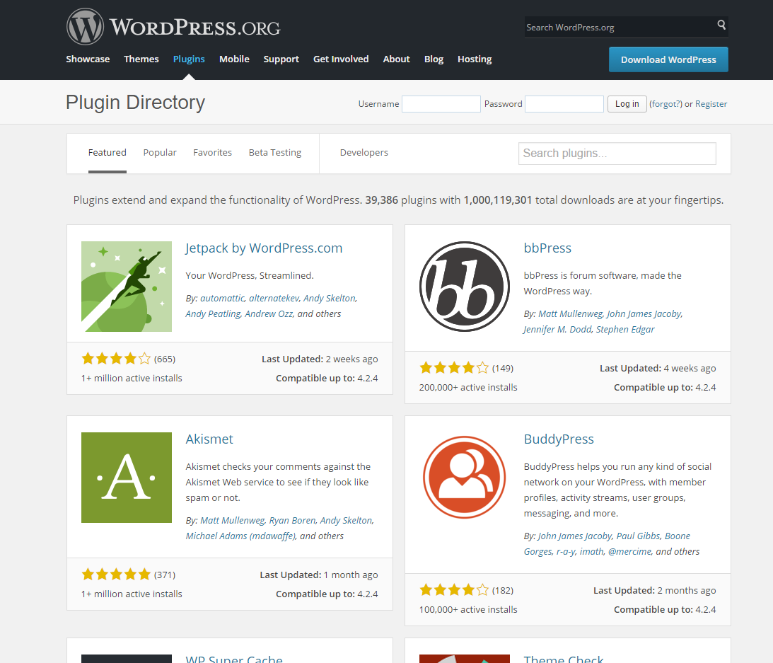 Installing Plugins onto WordPress
